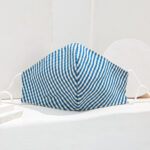 BLUE Checkered Cotton Mask