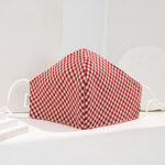 RED Checkered Cotton Mask