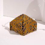 Animal Print Gold and Brown Mask