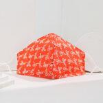 Orange Embroidery Mask