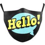 Beard mask Hello (black)