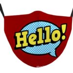 Beard mask Hello (red)