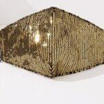 Glitter mask (gold)