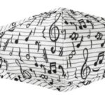 Mask with music notes