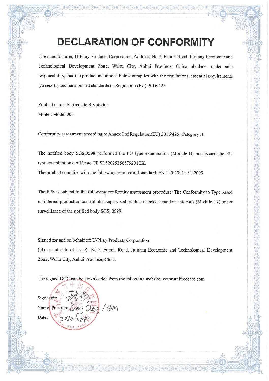 Zertifizierung FFP2 20er Packung